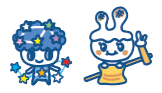 Residents of Starry Sky Lab: Kiminanizatchi, Mochiusatchi
