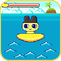 Tamagotchi On / Meets Surfing Game