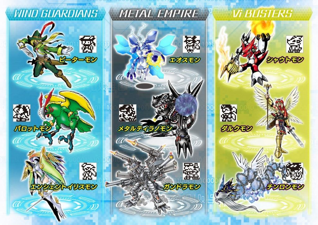 Exclusive Digimon for each Pendulum Z II device